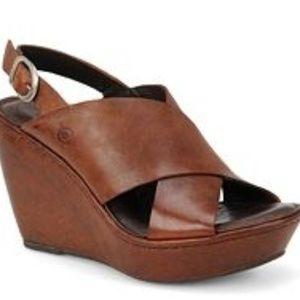 Born Emmy brown platform heel
